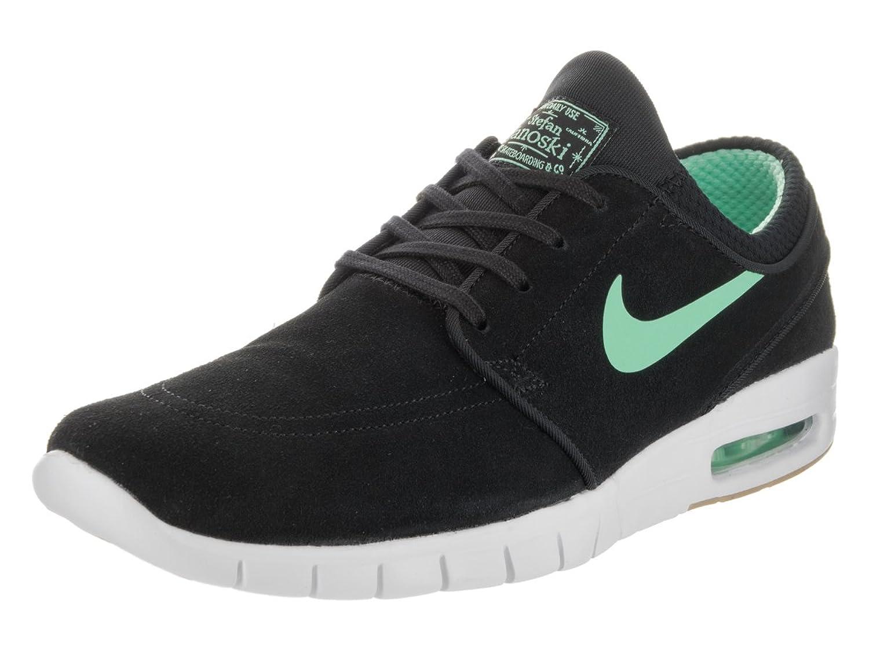 d809b027586 NIKE SB Zoom Stefan Janoski Max Suede Black Green Glow White Gum Light  Brown Skate Shoes
