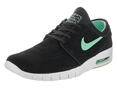 Nike Men's Stefan Janoski Max L, BLACK/GREEN GLOW-WHITE, ...