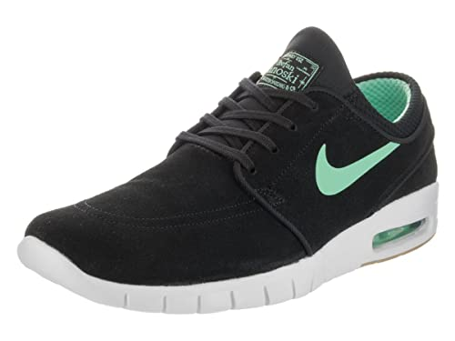 the best attitude 7817a e3c45 Nike Men s Stefan Janoski Max L Black Green Glow White Skate Shoe 8 Men US   Buy Online at Low Prices in India - Amazon.in