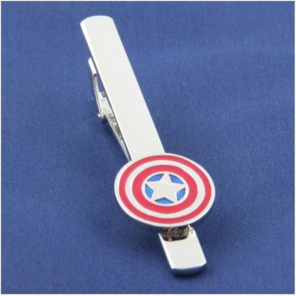 e-super Capitán América Superhero Clip de corbata Bar Clasp Marvel ...