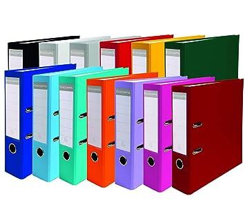 Ordner Farben.Exacompta 915400b Premium Ordner Pp 2 Ringe Rücken 80 Mm Din A4 20 Stück Zufällige Farben