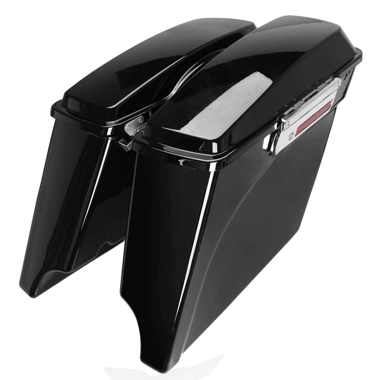 Triclicks Noir 5 Sacoches Rigides Prolong/és pour Harley Touring Electra Glide Street Glide Road King Road Glide Ultra Classic 1993-2013