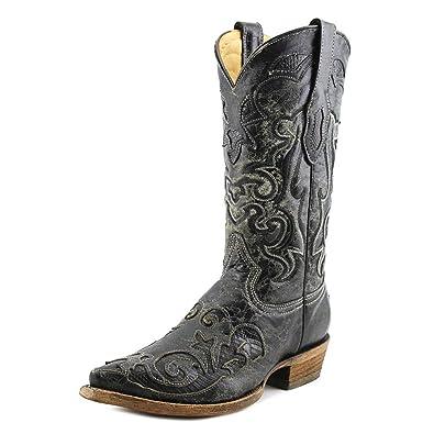 1919a964aed Amazon.com   CORRAL Men's C2155 Vintage Lizard Inlay Black Cowboy ...
