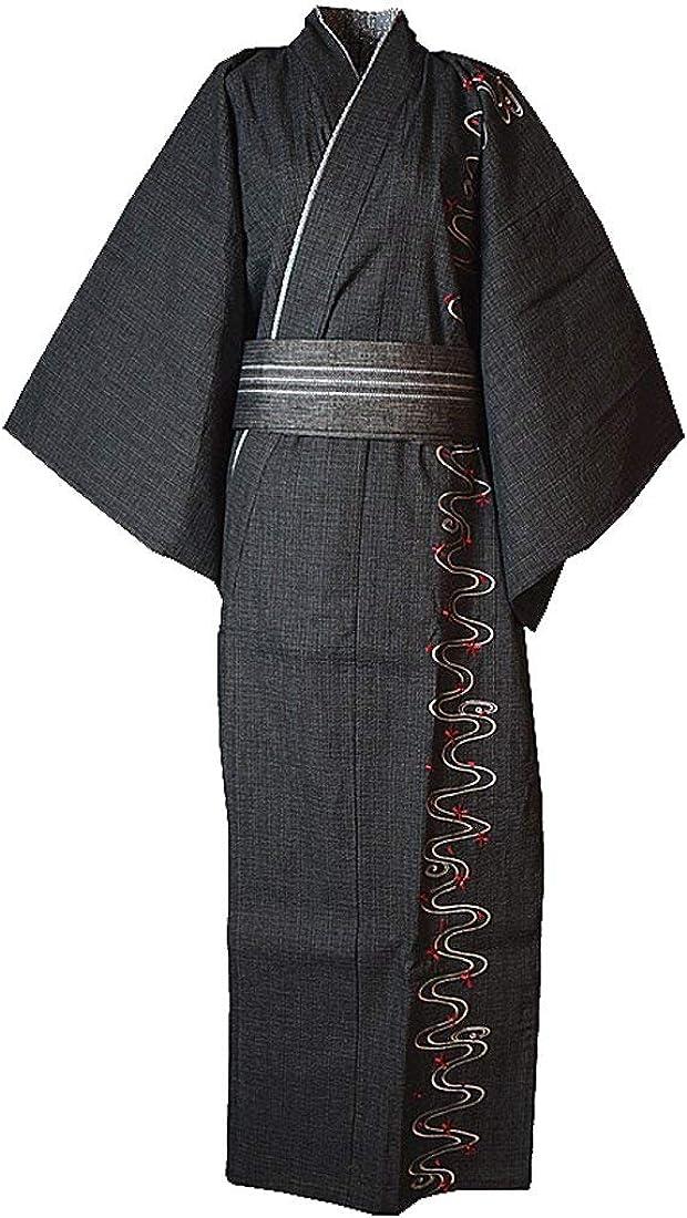 MAYSONG Men's Japanese Yukata Japanese Kimono Home Robe Pajamas Dressing Gown