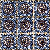"""Color y Tradicion 9 Mexican Tiles 4"""" x 4"""" Hand Painted Talavera C176"""