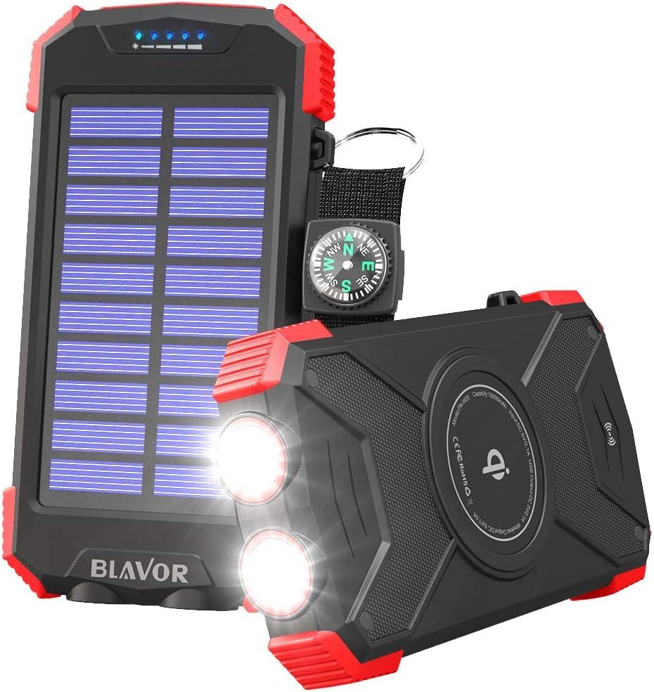 BLAVOR ソーラーモバイルバッテリー ソーラーチャージャー