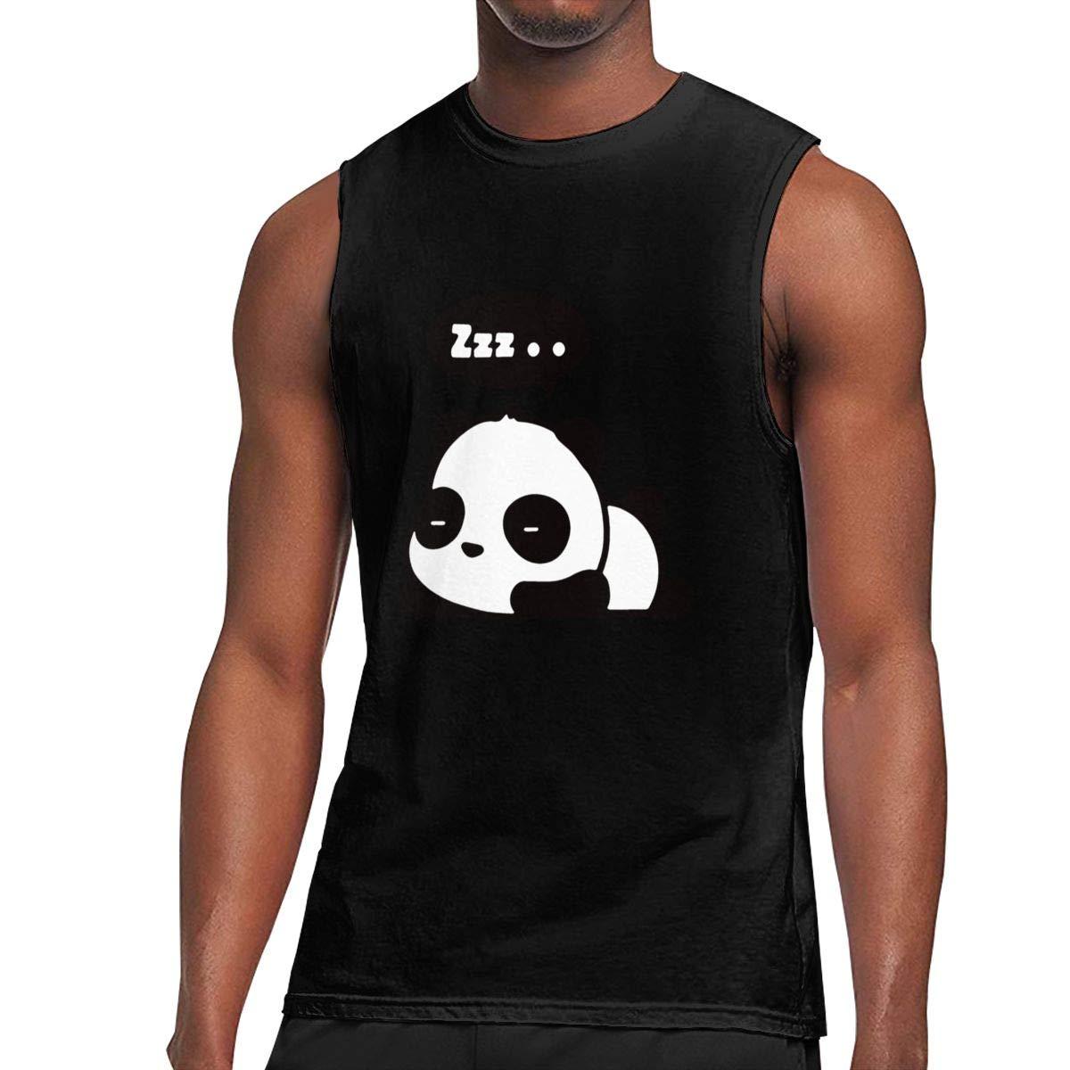 Seuriamin Sleeping Panda Cute Classic Athletic Sleeveless Muscle Short Sleeve T Shirt