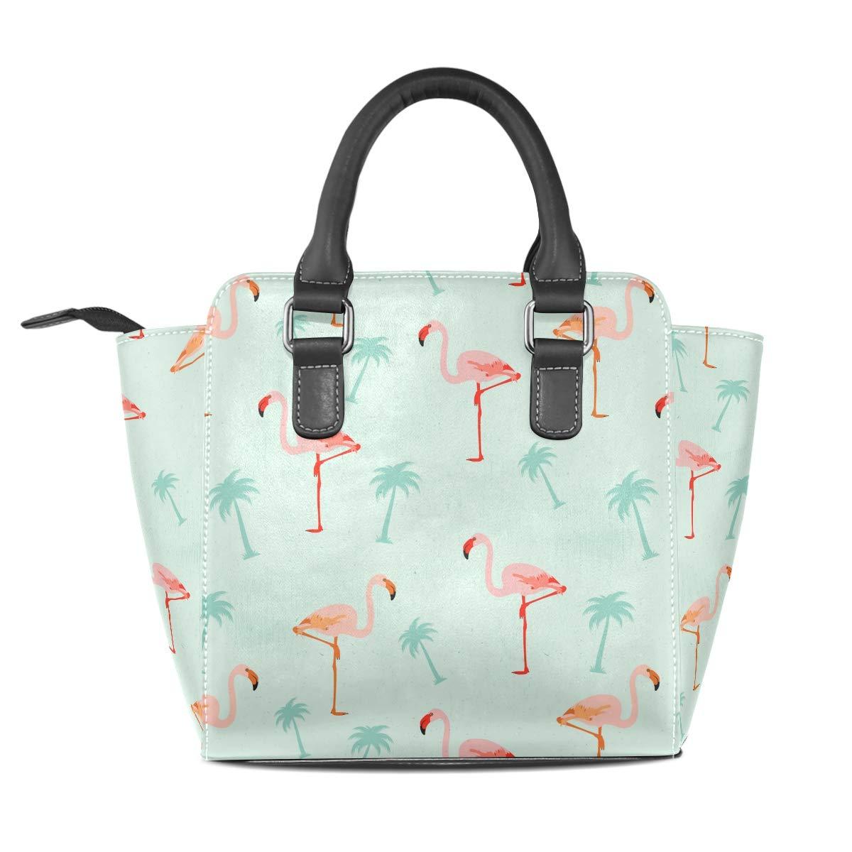 Leather Flamingo Pineapple Fruit Rivet Handbags Tote Bag Shoulder Satchel for Women Girls