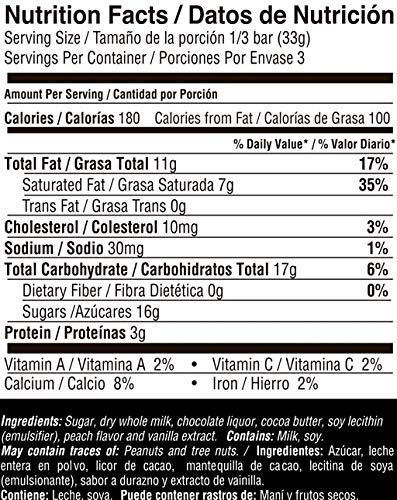 Amazon.com : PARA TI Milk chocolate peach-flavored. 3pack. 10.5oz. : Grocery & Gourmet Food