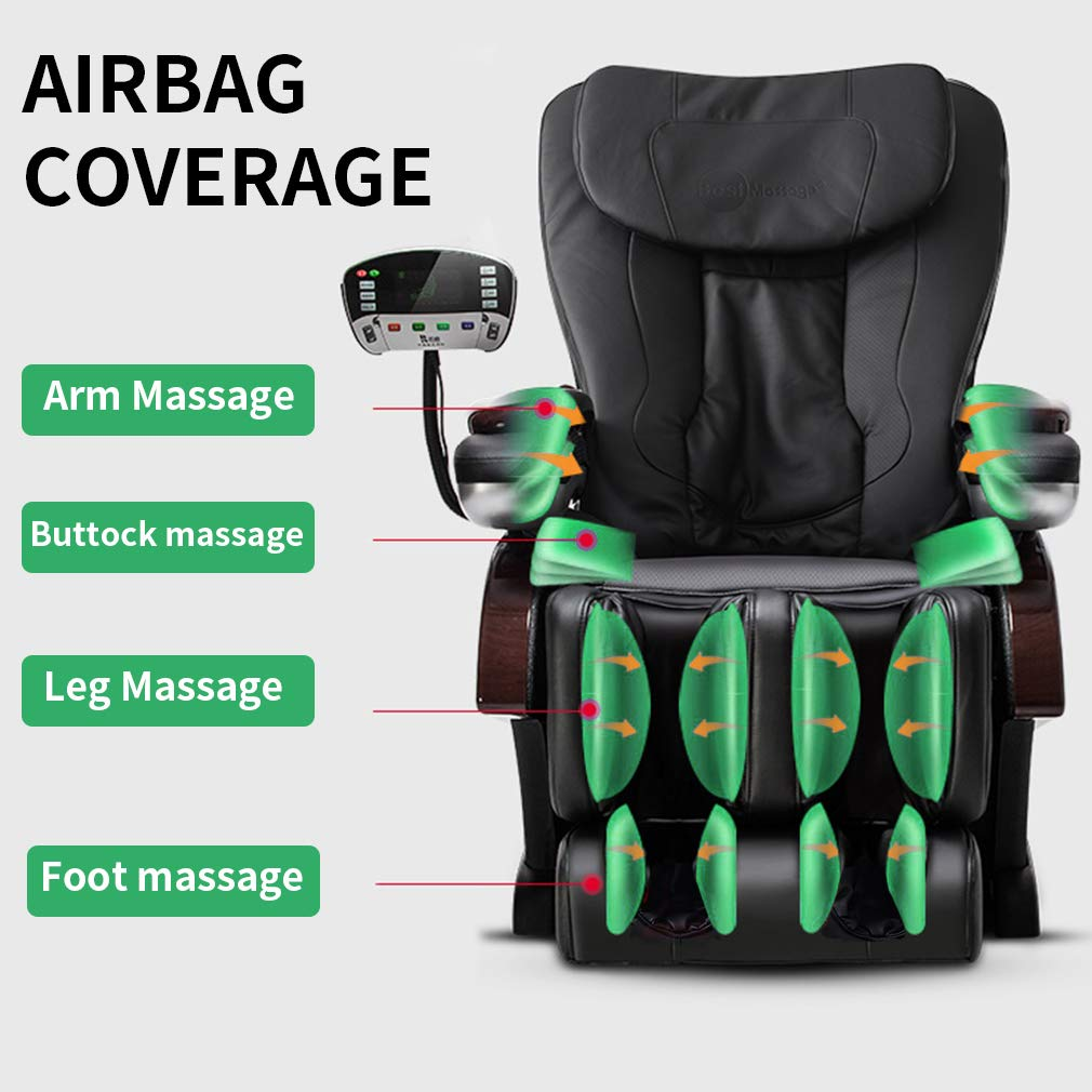 Amazon.com: Full Body Electric Shiatsu Massage Chair Recliner with Built-in  Heat Therapy Air Massage System Stretch Vibrating for Home Office Living  Room ...