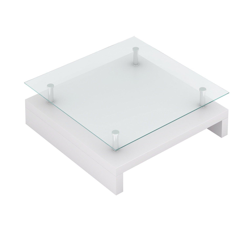 JARDIN Tavolino basso da salotto - Bianco - materiale in legno ...
