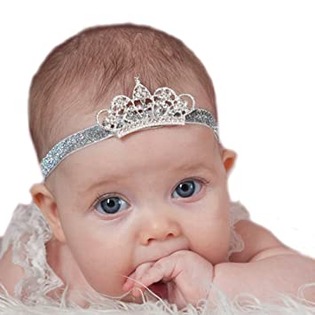 Amazon.com  Miugle Baby Girls Crown Headbands Baby Rhinestone Tiara ... a4699ce33ce
