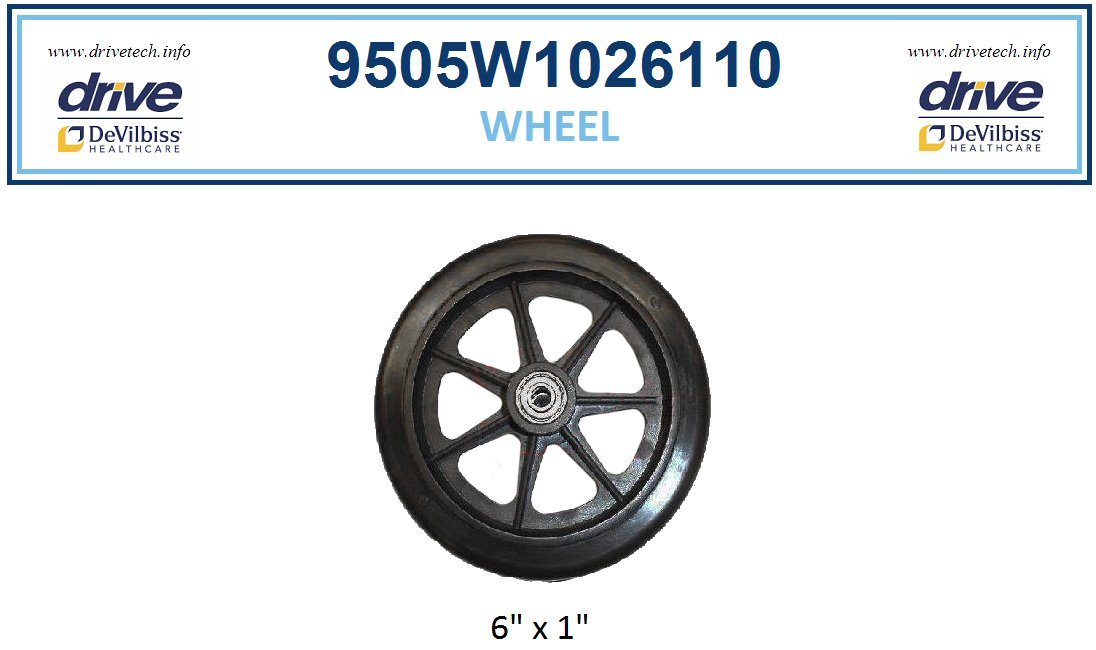 Front / Rear Wheel - 5W serial # walkers -Drive Models: RTL10261 (5W)