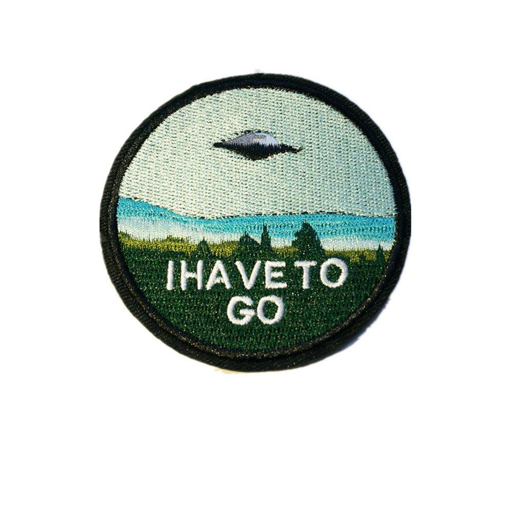 Parche bordado de OVNI volador, se cose o se plancha sobre la tela, se aplica a gorras, sombreros, pantalones: Amazon.es: Hogar