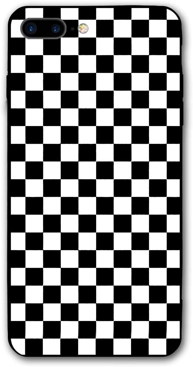 coque iphone 7 carreaux noir et blanc