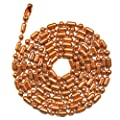 3 Foot Length Ball Chains, #6 Size, Ball-bar Style Copper, with Matching Connectors (3 Pack) obtained from Ball Chain Manufacturing Co., Inc.
