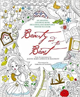 Beauty And The Beast Colouring Book Removable Poster Fabiana Attanasio 9788854411661 Amazon Books