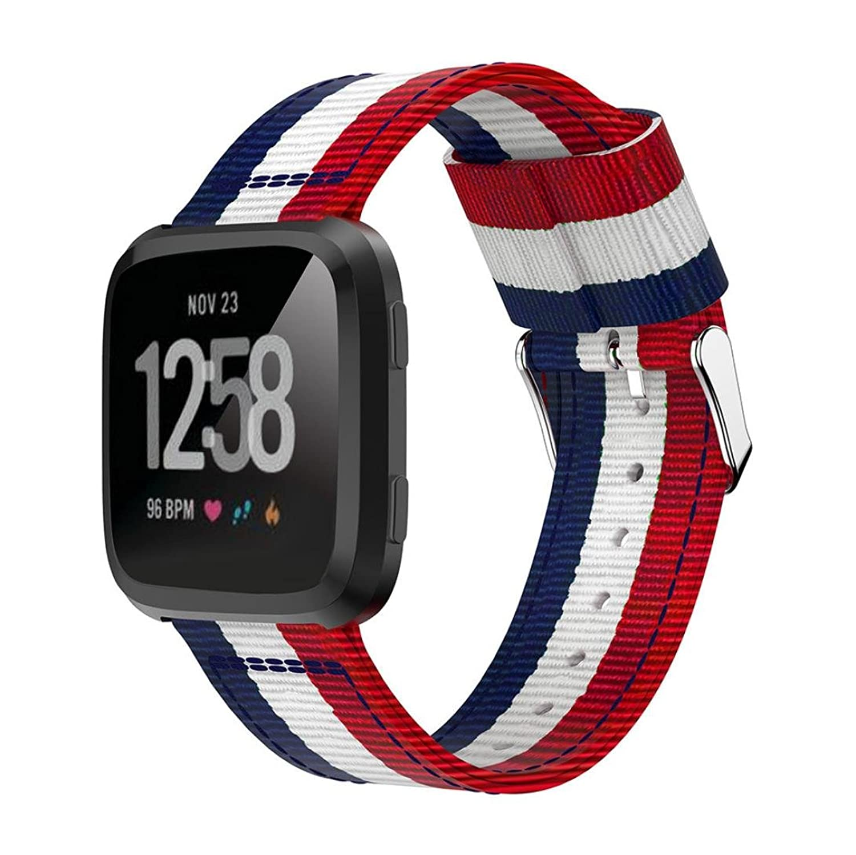 mostsolaナイロン調節可能な交換用時計バンドストラップfor Fitbit Versa ( C ) B07BQ4HQ5M