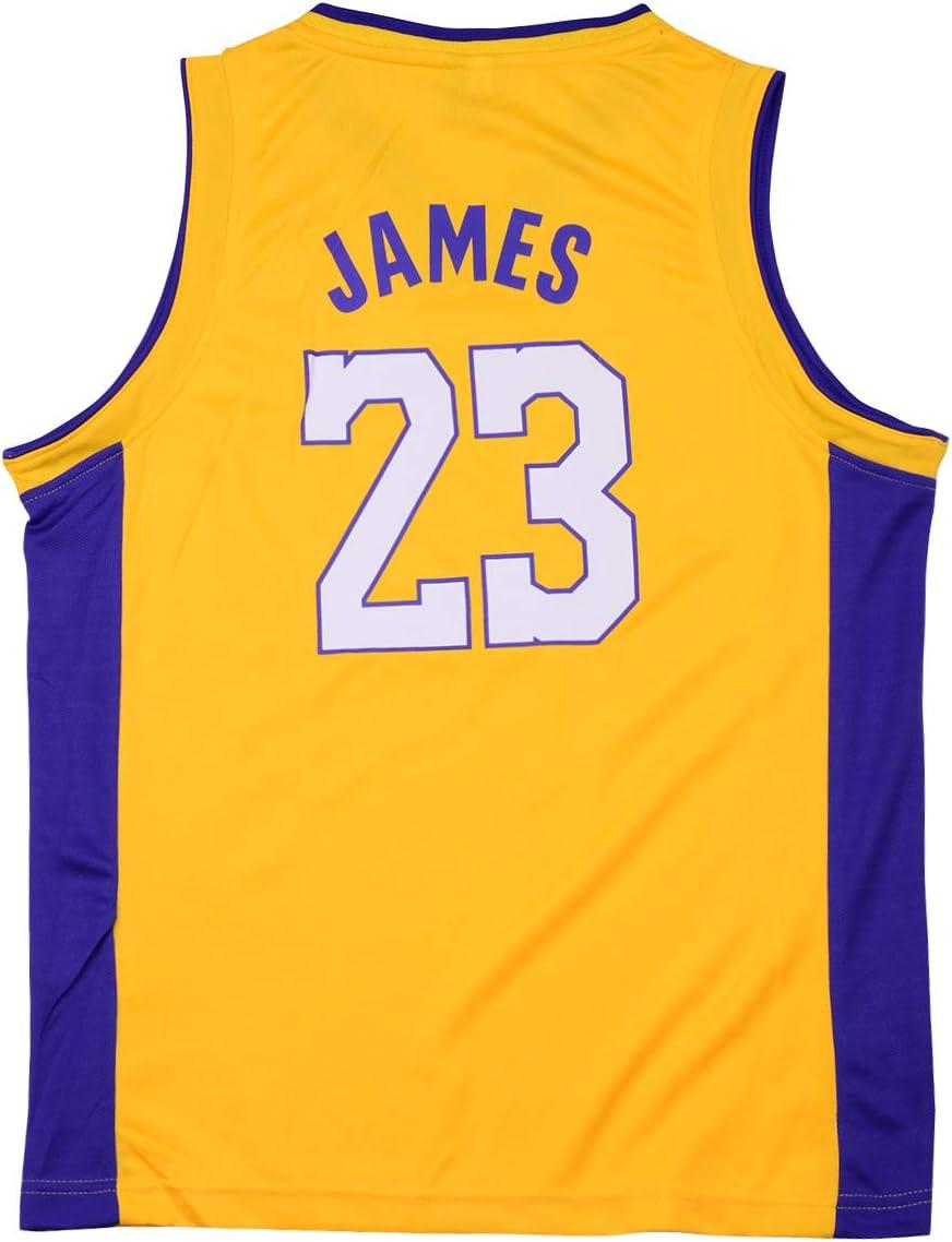 Sokaly Niños Chicago Bulls Jorden # 23 Curry#30 James#23 Conjunto de Camiseta de Baloncesto Chaleco & Pantalones Cortos Cómodo para Chicos y Hombres (S, Amarillo): Amazon.es: Deportes y aire libre