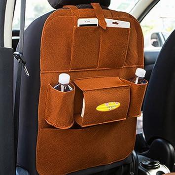 Olpchee Car Seat Back Organizer Multi Pocket Felt Hanging Storage Bag Space Saving For Tissue