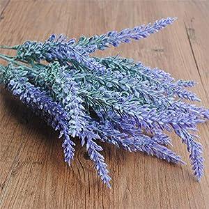 Romantic Provence Lavender Flower Silk Artificial Flowers Plants Wedding Home Garden Table Decoration,Purple 35