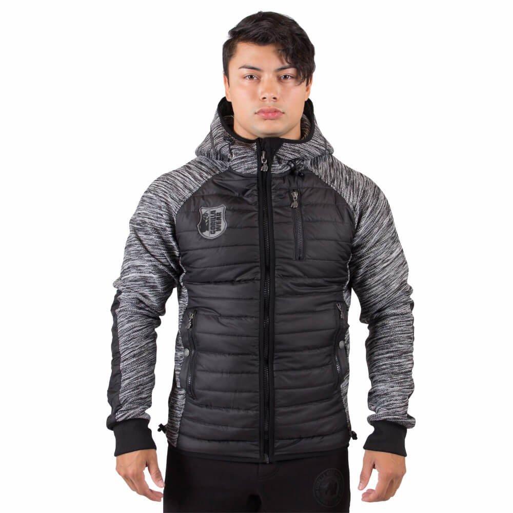 Gorilla Wear Paxville Jacket Black/Gray Lime - schwarz/grau limette - Bodybuilding und Fitness Jacke für Herren