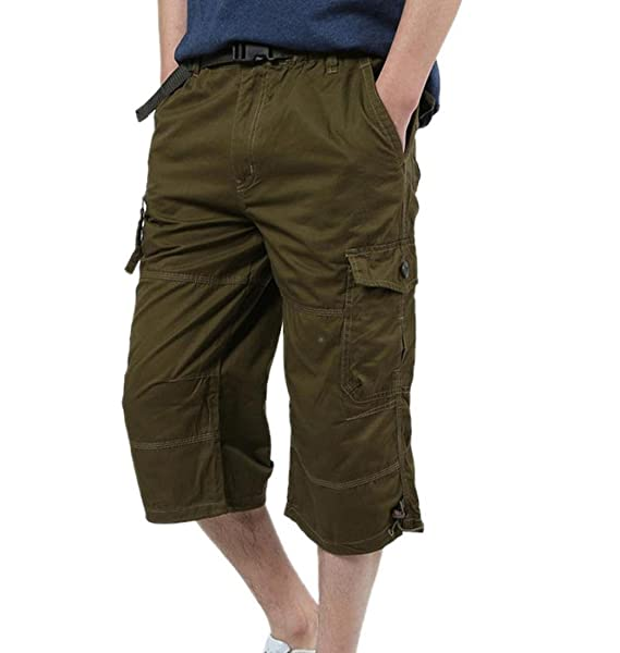 ZEZKT-Herren Sport Outdoor Sommerhose Cargo Shorts Bermuda Kurze Hose Lose  Freizeithose Chino Slim Stoffhose 1e9f07af95