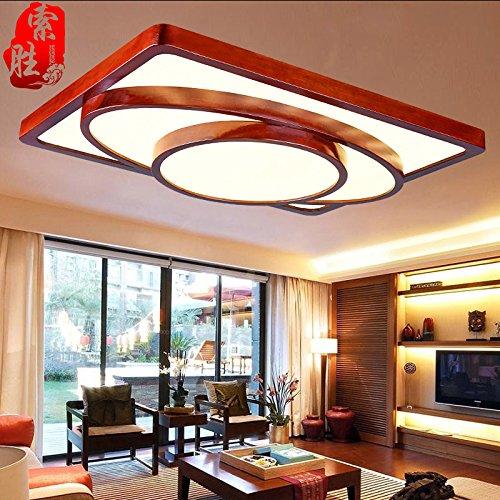 BLYC- Einfache Wohnzimmer moderne chinesische Massivholz LED Leuchte Licht Lampe Schlafzimmer Lampe Deckenleuchten in der Studie 850 * 650mm