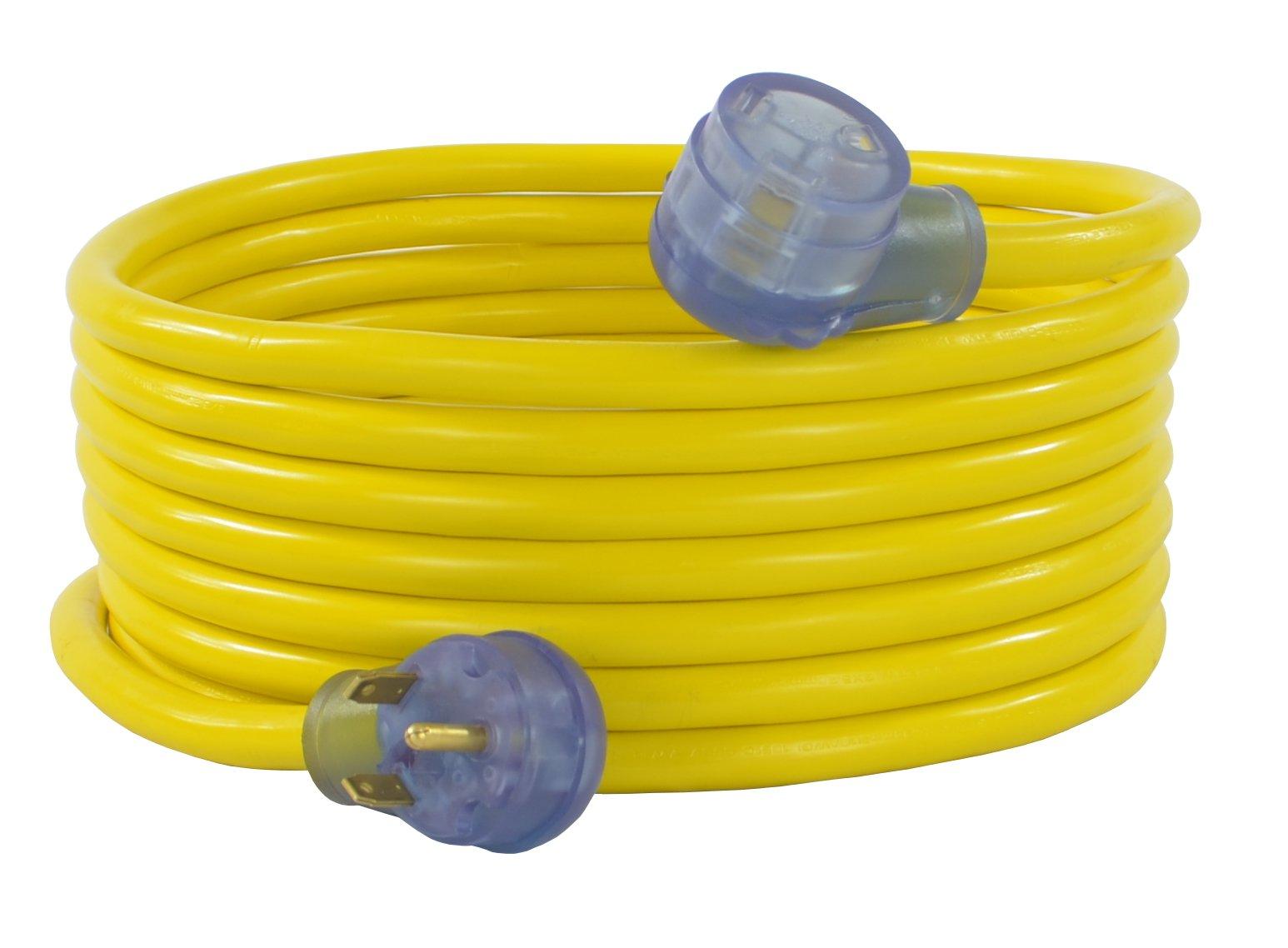 Conntek 14368, 30 Amp RV Extension Cord, Yellow (25-Feet)