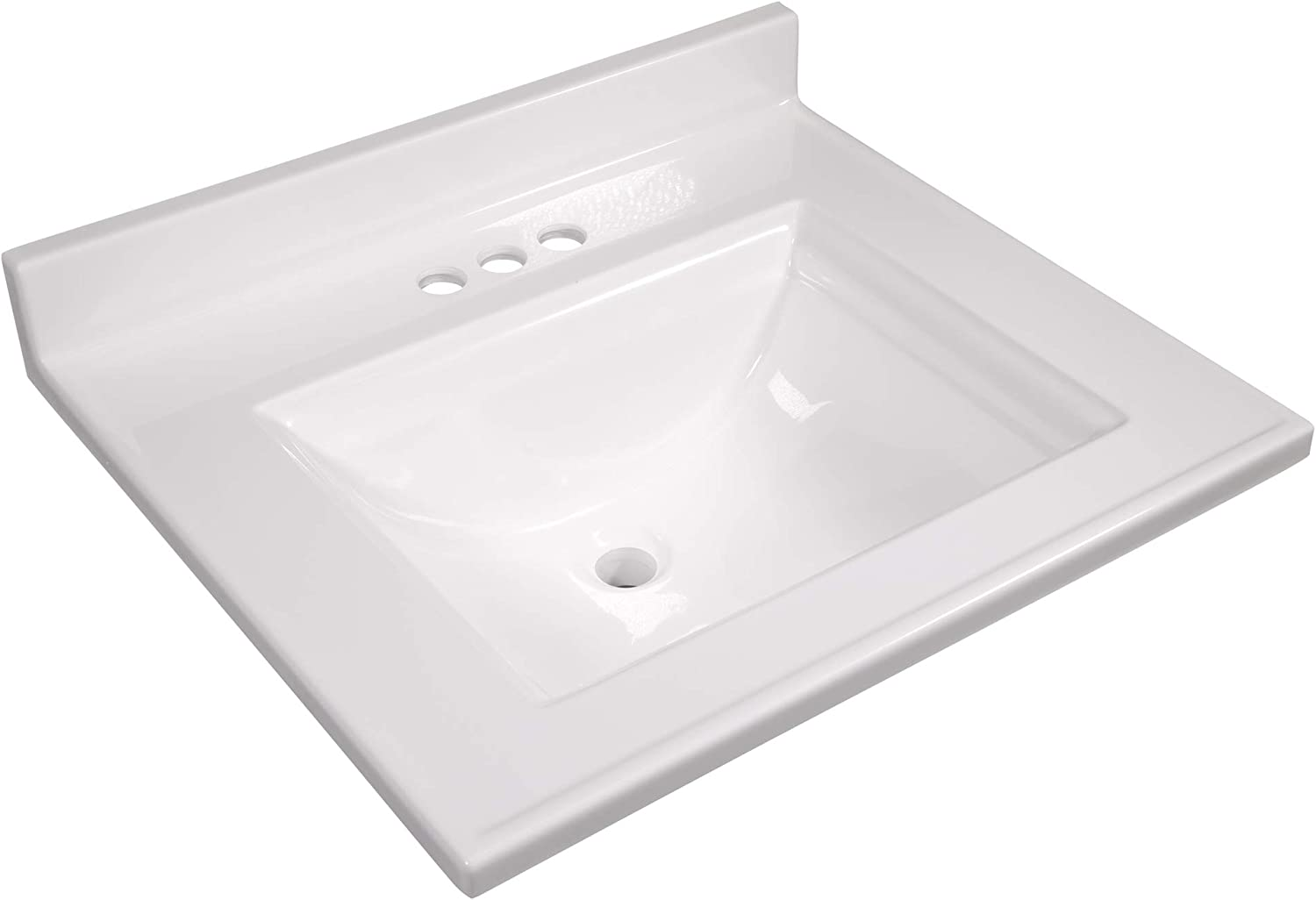 Design House 557629 Camilla Vanity Top With 4 Backsplash 25 22 Inches Solid White Amazon Com