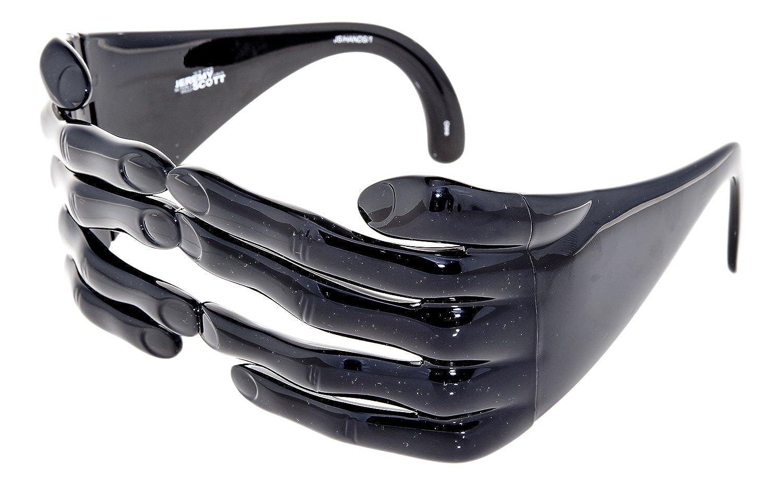 5ded06cb71a5 Amazon.com  LINDA FARROW Jeremy Scott Black Fashion Accessory JS HANDS  Sunglasses  Clothing
