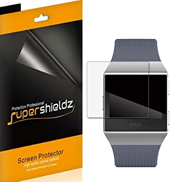 [6-Pack] Supershieldz for Fitbit Ionic Screen Protector [Full Screen Coverage] High Definition Clear...