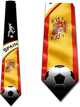 Corbatas de fútbol para hombre España Corbata deportiva Corbata de Three Rooker: Amazon.es: Salud y cuidado personal
