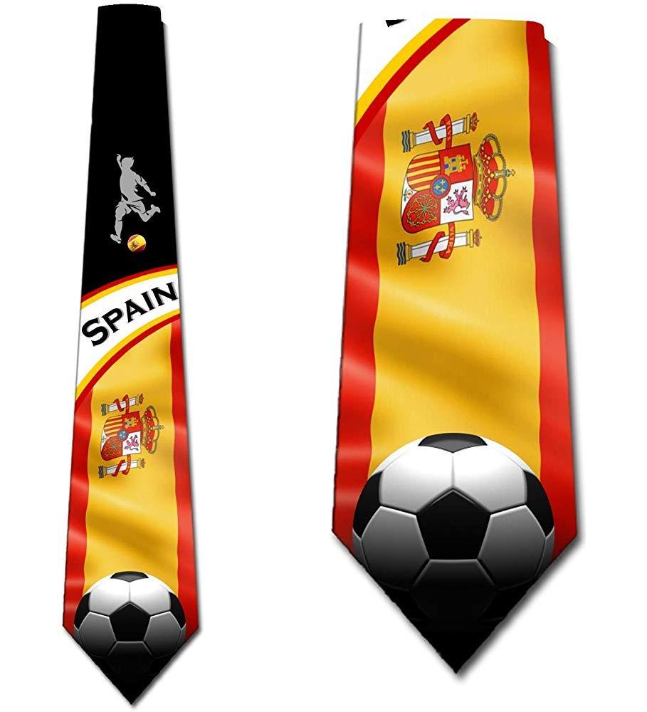 Corbatas de fútbol para hombre España Corbata deportiva Corbata de ...