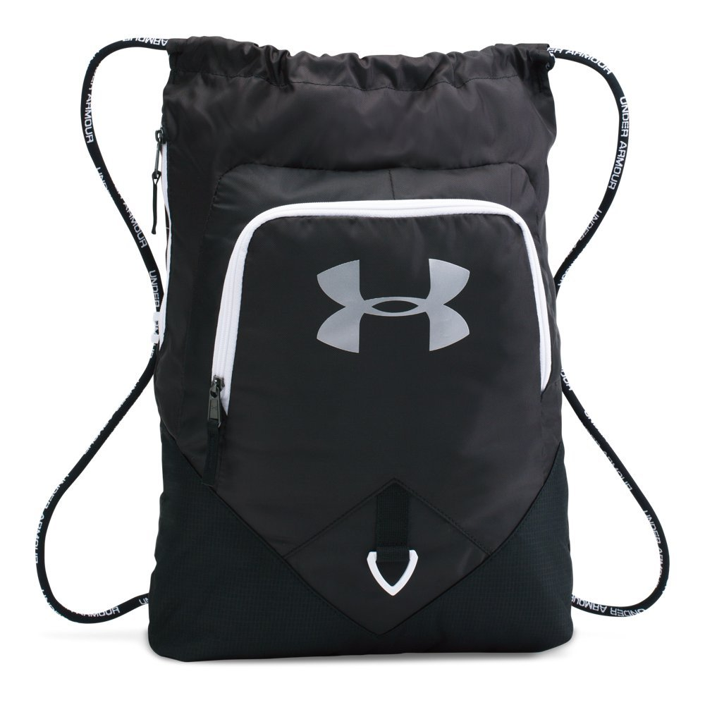 Under Armour 1261954  Undeniable Sackpack, Black/White, One Size