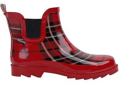 Amazoncom BS Womens Rain Boots Short Ankle Rubber Garden
