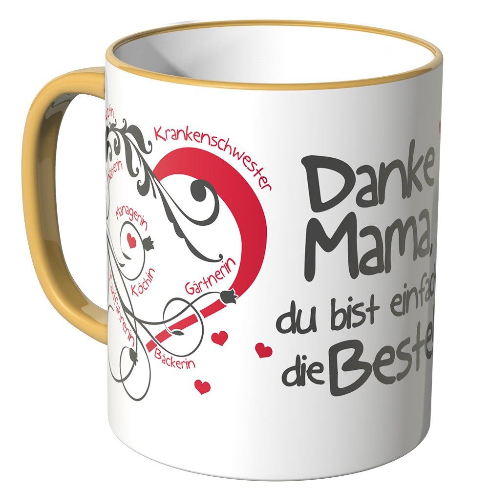 WANDKINGS Tasse BLAU Spruch Beste Mama der Welt