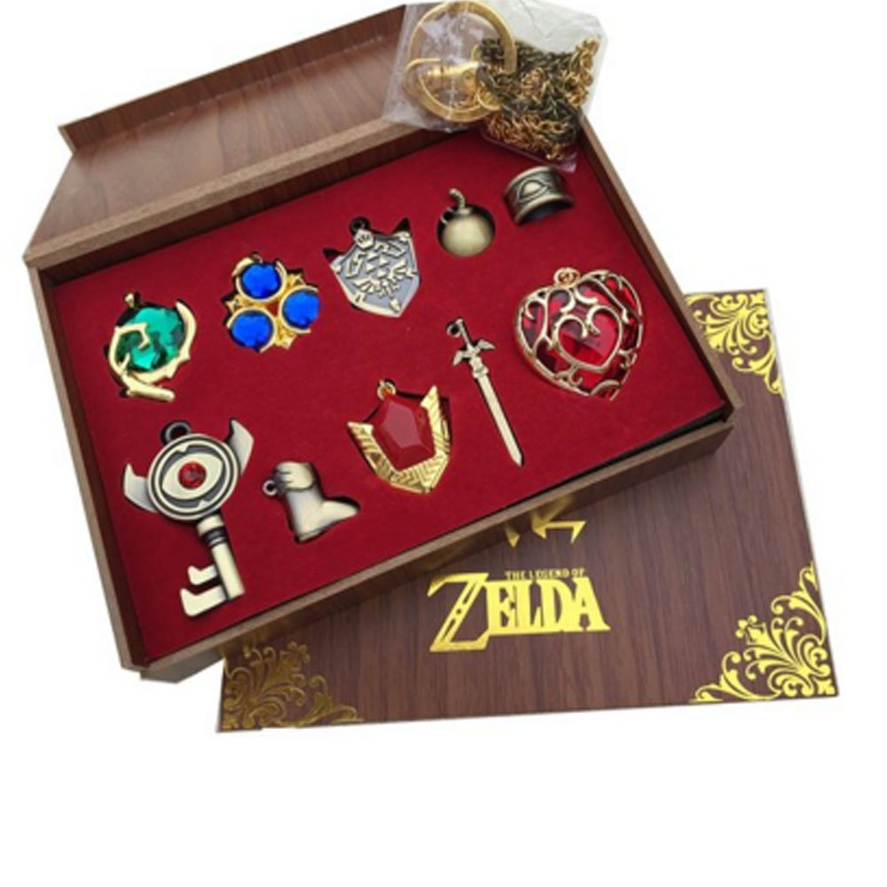 xcoser® Zelda Twilight Shield & Master Sword Keychain Collection Box 2016 10PCS-Red