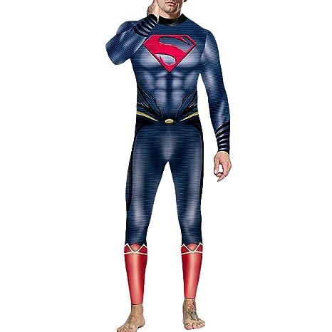 QQWE Superman Traje de Cosplay del Vestido Liga de la ...