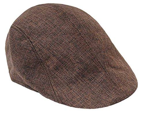 IL Caldo Adult Peaked Simple fashion color Plaid Newsboy Cap Beret Hat