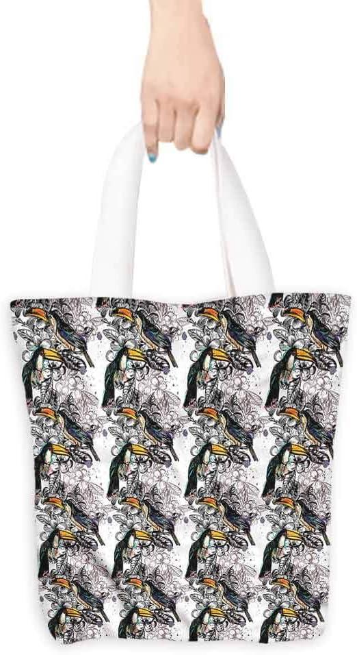 Bolsa de compras, golondrinas de pájaros en el cielo nublado, algodón orgánico lavable y bolsas ecológicas,: Amazon.es: Hogar