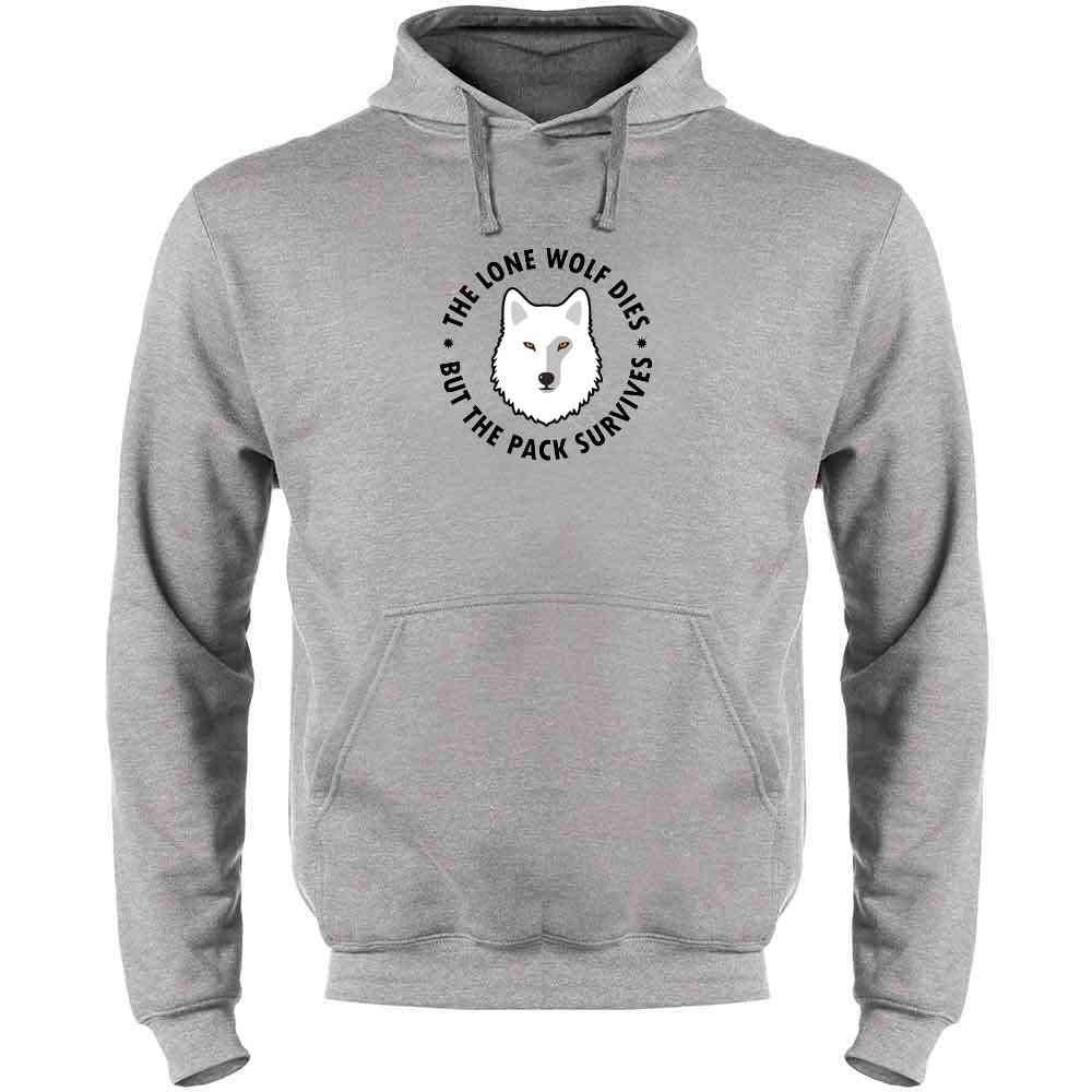 The Lone Wolf Dies But The Pack Survives Mens Fleece Hoodie Sweatshirt