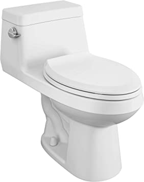 American Standard 2961a104sc 020 Colony Right Height Elongated One Piece Toilet With Seat White Amazon Com