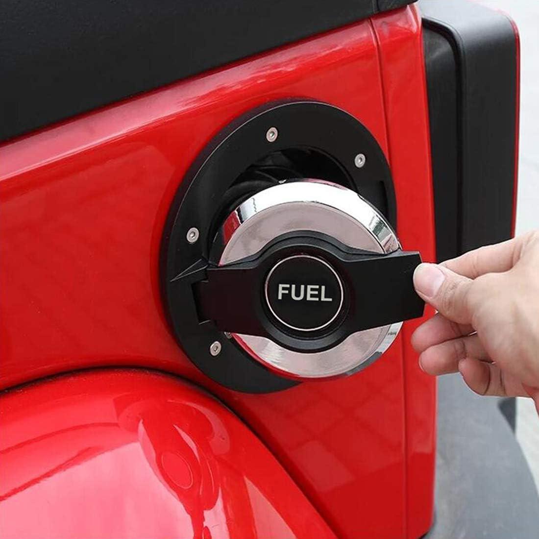 SKTYANTS Fuel Tank Cover Gas Lid Filler Cap Metal ABS Gas Cap Cover for Jeep Wrangler jk 2007-2018 Black