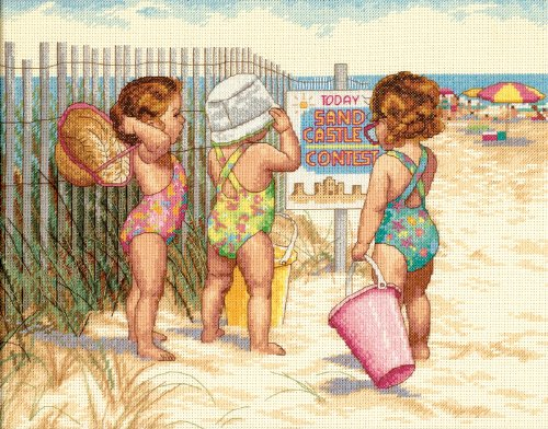 Dimensions Needlecrafts Counted Cross Stitch, Beach Babies -  35216