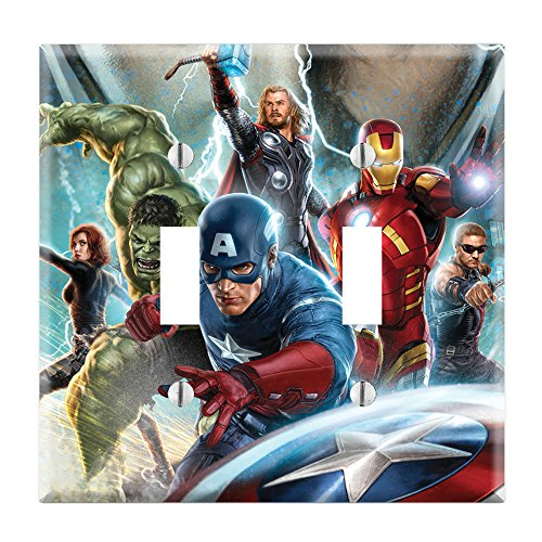 Dual Toggle Wall Switch Cover Plate Decor Wallplate - Avengers
