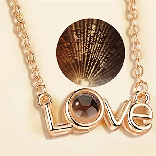 axusndas Collar de Mujer Collar de clavícula con Recuerdos de Amor ...