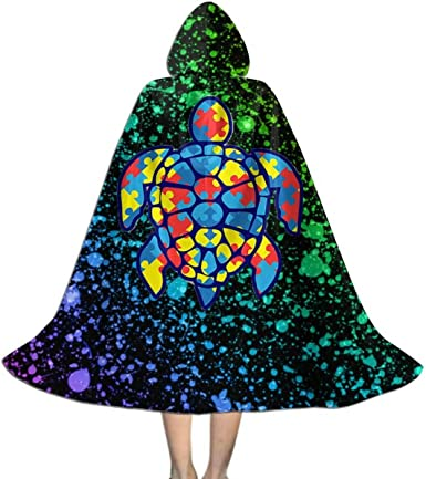 Xng Christmas Party 2020 Amazon.com: Autism Puzzle Sea Turtle Unisex Kids Hooded Cape Cloak