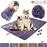 """Super Soft and Fluffy Pet Blanket, Reversible Microplush Blanket for Pet Dog Cat Puppy Kitten,Snuggle Blanket for Couch, Car, Trunk, Cage, Kennel, Dog House 50""""x40"""" (Purple)"""