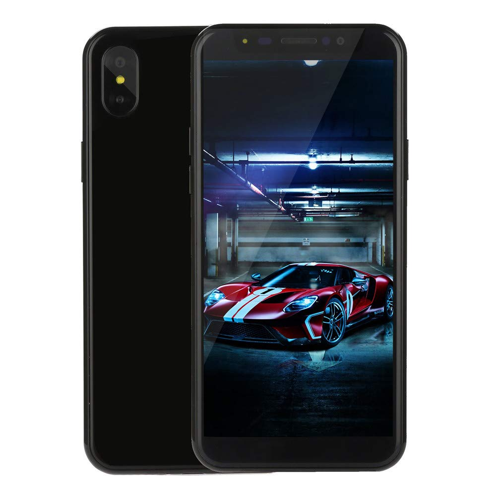 Unlocked 5.7 inch Smartphone - Android Dual HD Camera/SIM Cellphones - Quad-core 1G RAM+4G ROM 3G Call Mobile Phone (Black, 5.7 inch)